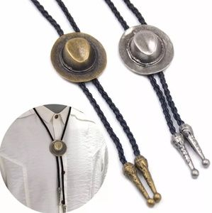 cowboy hat braded rope bolo tie